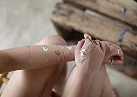 Temporal Tatuajes brillante impermeable tatuajes falsos Shimmer ...