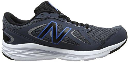 New Balance Herren M490v4 Laufschuh Donner / Electric Blue / Hallo Lite / Metallic Silber