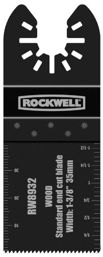 Rockwell RW8932 1-3/8-Inch Sonicrafter Oscillating Multitool Standard Wood End Cut Saw Blade with Universal Fity System