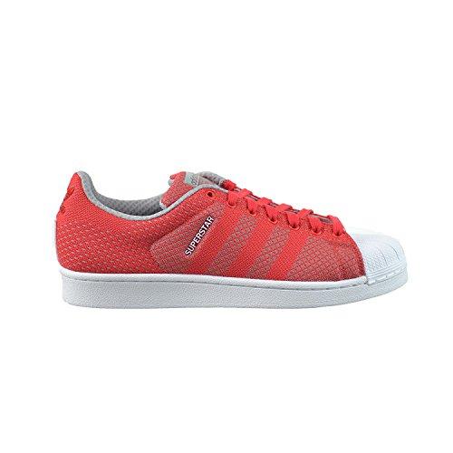 Adidas Superstar Weefsel Pak Heren Schoenen Tomaat / Wit S77929 (11,5 M Ons)