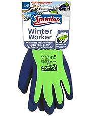 Spontex Winter Worker handschoenen, werkhandschoenen met binnenvoering voor hoge bescherming tegen kou, met latexcoating, maat L, 1 paar