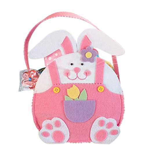 [Candy Bags,Elevin(TM) Easter Rabbit Gift Candy Bag Creative Present Home Accessory (Pink)] (College Girl Halloween Costumes Creative)
