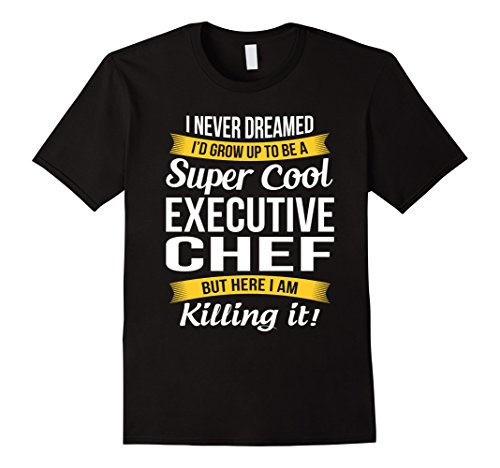 Mens Super Cool Executive Chef T-Shirt Funny Gift XL Black