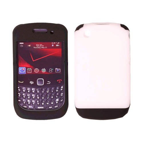 (Double Cover Silicone Case for Blackberry Curve 9300 9330 8530 Black OEM)