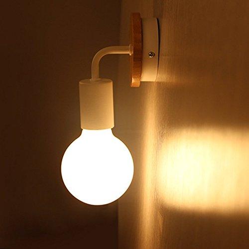 Vinteen Estilo europeo del norte Lámpara de pared de madera simple Pasillo americano Pasillo Espejo Dormitorio de la...
