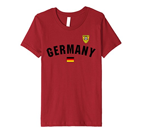 Kids German Flag World Class Soccer Jersey Premium T-Shirt 8 Cranberry (Shirt Jersey 8 Soccer)