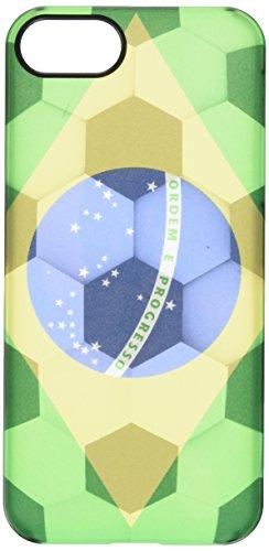 Uncommon - C0088-XB - Apple iPhone 5/5S Brasilien Deflector Hülle mit Fußball-Textur