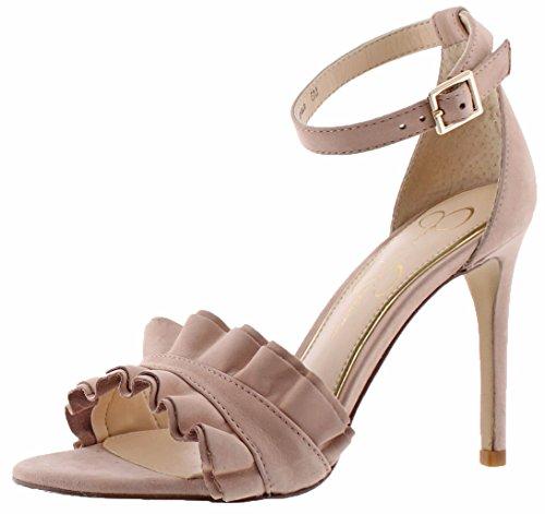 Jessica Simpson Women's Silea Nude Blush Rio Nubuck Sandal - Jessica Simpson Slingback Shoes