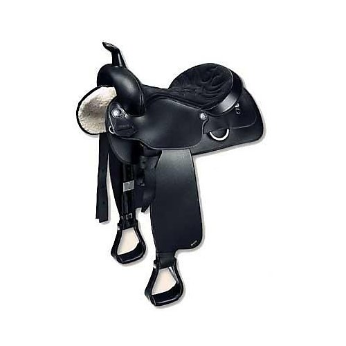 (Wintec Semi-Quarter Western Saddle 16 Inch Black)