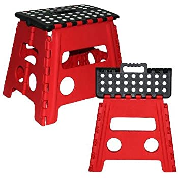 Grip Foldable Step Stool Red  sc 1 st  Amazon.com & Amazon.com: Grip Foldable Step Stool Red: Kitchen u0026 Dining islam-shia.org
