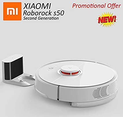 Roborock XIAOMI S50 Robot Vacuum Cleaner with Sweep Suction and Wet Mopping  (White)
