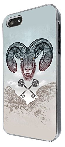 807 - Aries Ram sign Design iphone 5 5S Coque Fashion Trend Case Coque Protection Cover plastique et métal
