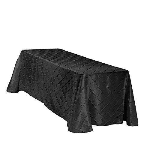 LinenTablecloth Rectangular Pintuck Tablecloth, 90 x 156