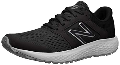 New Balance Women's 520v5 Cushioning Running Shoe, black/white, 9 B US