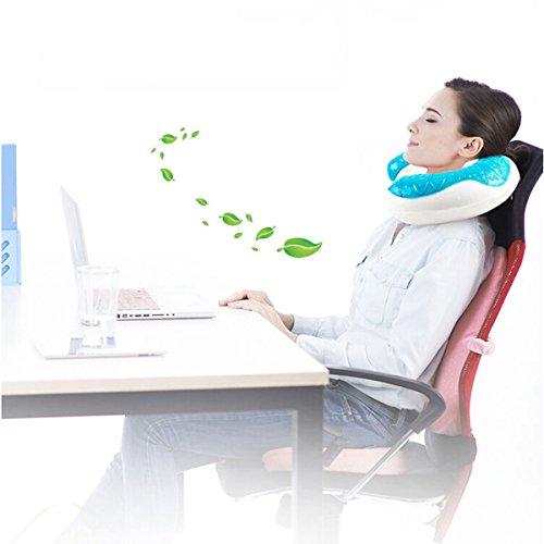 Luxury Dynasty Silk (Cool Memory Foam Gel Travel Pillow Neck U-Shape Headrest Car Flight Soft Cushion)
