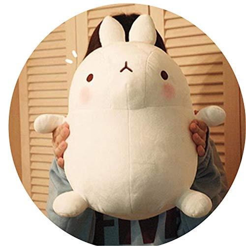 Cherryi 1Pcs Fashion Cartoon Cute Anime Molang Rabbit Plush Toy Pillow Potatoes Bear Stuffed,White Rabbit,55cm