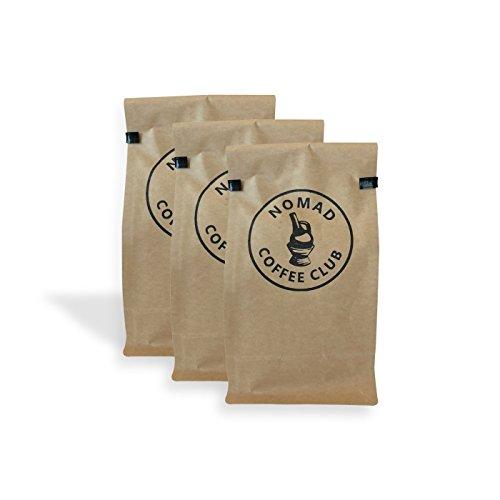 3 Month Coffee Club - Nomad Coffee Club 3 Month Coffee Subscription Box - Whole Bean, Organic, Fair Trade (12 oz)