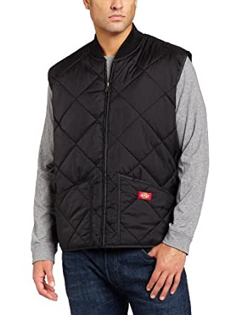 D-TE242 DIAMOND QUILTED NYLON VEST (S, BLACK)