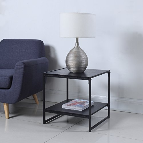 Modern Inch Square Table Black