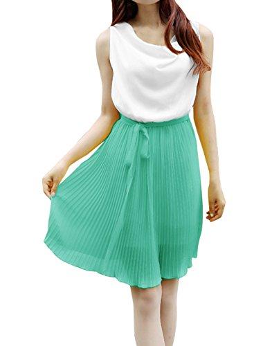Belt Dress K Sleeveless Removable Aqua Ladies Design Allegra Cowl Chiffon Neck Splice 7vdqYUWawW
