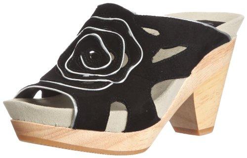 Earth Earthies Tropez schwarz 5300018 - Zapatos de vestir de ante para mujer Negro
