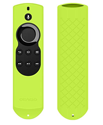 OEAGO Silicone [Anti Slip] Shock Proof Cover Case for All-New Fire TV with 4K Alexa Voice Remote (2017 Edition) (2nd Gen) / Fire TV Stick Alexa Voice Remote (Yellow)