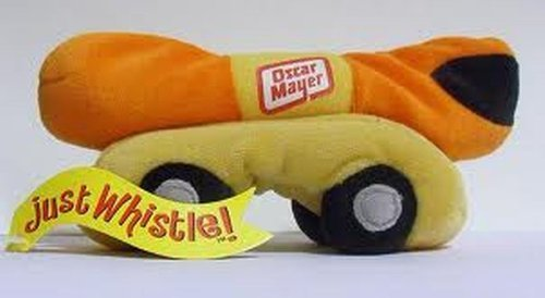 "6"" Plush Oscar Mayer, Just Whistle, Bean Bag Toy from Oscar Mayer"