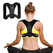 #LightningDeal Posture Corrector for Women Men - Effective Comfortable Adjustable Posture Corrector - Back Brace