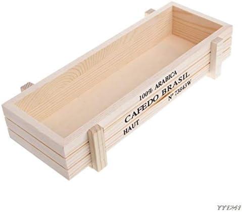 ADSIKOOJF Maceta de jardín Decorativa Vintage Suculenta Cajas de Madera Cajas Mesa Rectangular Maceta Dispositivo de jardinería W: Amazon.es: Hogar