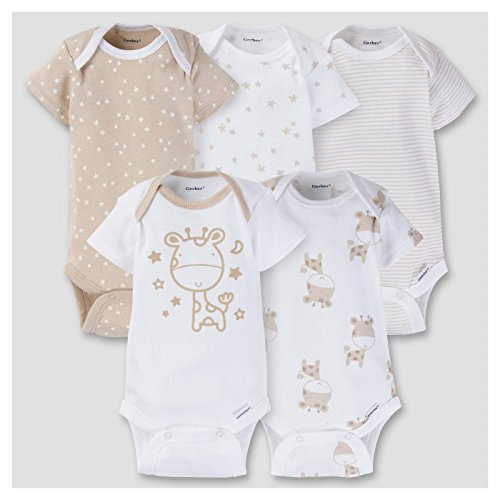 Gerber Baby 5 Pack Short Sleeve Onesies