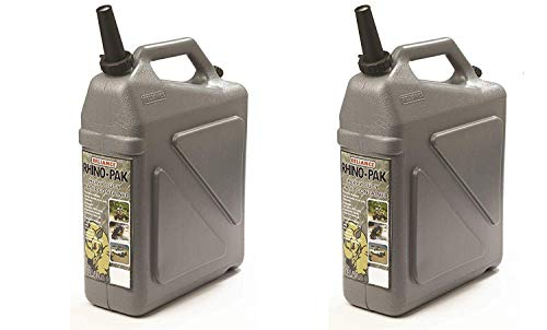 Reliance Rhino-Pak Heavy Duty Water Container (Grey, Medium) (Pack of 2)