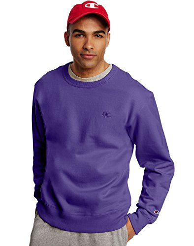 Champion Men's Powerblend Pullover Sweatshirt, Purple, XX-Large