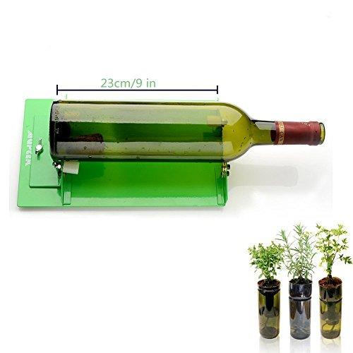 AGPtek Long Glass Bottle Cutter Machine Cutting Tool For Wine Bottles, Suit for LONG Bottle (Green)