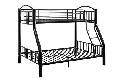 (ACME Cayelynn Black Twin over Full Bunk Bed)