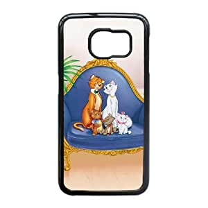 Durable Phone Cases Samsung Galaxy S6 Edge Cell Phone Case Black The Aristocats Ngflt Plastic Durable Cover