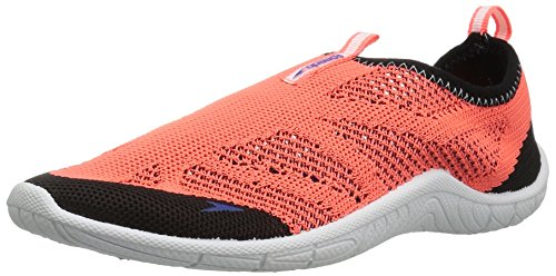 - Speedo Water Shoes-Surf Knit Skate, Hot Coral, 1