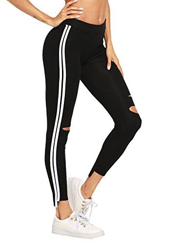 side ripped leggings - 2