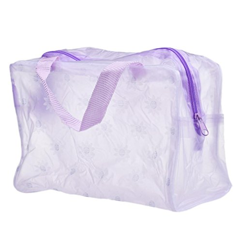 Clearance Flowers Waterproof Transparent Portable Makeup Cosmetic Bag Travel … (C) (Soft Leather Large Satchel)