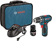 Bosch Power Tools Drill Kit - PS31-2A - 12V, 3/8 Inch, Two Speed Driver, Cordless Drill Set - Includes Two Lit