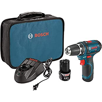 Image of Bosch Power Tools Drill Kit - PS31-2A - 12V, 3/8 Inch, Two Speed Driver, Cordless Drill Set - Includes Two Lithium Ion Batteries, 12V Charger, Screwdriver Bits & Soft Carrying Bag Home Improvements