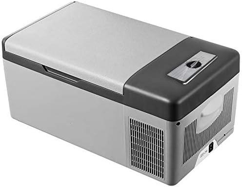 車載家庭両用 ポータブル冷蔵庫 屋内ベッドルームのためのポータブルミニ冷蔵庫熱電クーラー15リットル小型冷蔵庫 小型 コンパクト (色 : Silver, Size : 57X32X26CM)