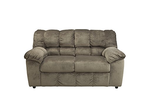 Ashley Furniture Signature Design - Julson Upholstered Loveseat - Contemporary - Dune - Contemporary Living Room Loveseat