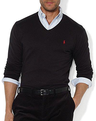 Ralph Lauren - Pull homme col v noir RA8923320 (M)  Amazon.fr  Vêtements et  accessoires 7c28f3650435