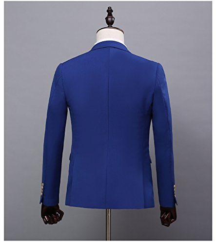 Love Dress Men's Thin Royal Blue Fit Suit 3-Piece Suit Best Men Gown M by Love To Dress (Image #2)'