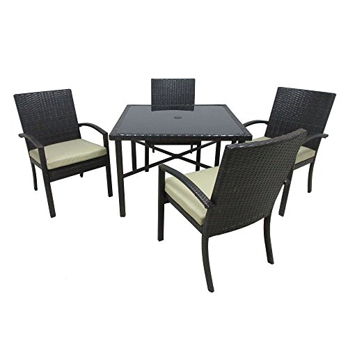 Outdoor Innovations 42SQWV/4D CHELSEA 5 Piece Dining Collection Outdoor And Patio Furniture Sets price