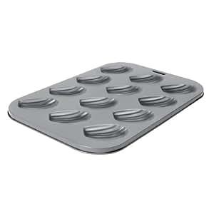 Dexam - Molde para conchas de chocolate (12 huecos), color gris
