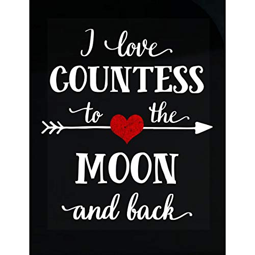 (Inked Creatively I Love Countess to The Moon and Back.Gift for Boyfriend - Sticker)
