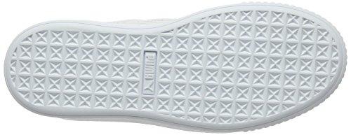 Metallic Ginnastica white Puma Donna Basket Basse Scarpe Da Silver Platform Bianco BEU7wqP
