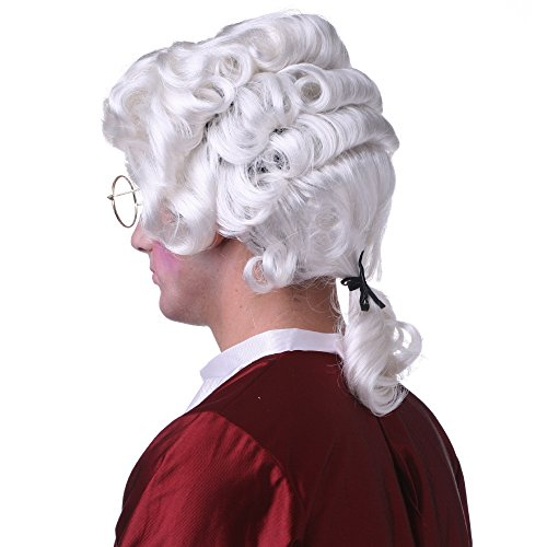 Wig Sepia Synthetic Hair (Sepia Costume Colonial Man Synthetic Wig White)