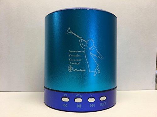 T-2020A Bluetooth Portable MINI speaker BLUE w/FM CardU-disk Line-in by Electronics